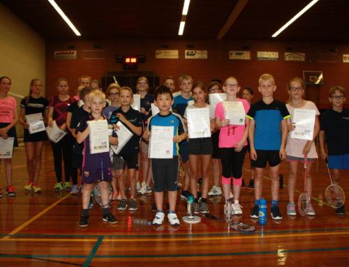 Jeugdleden badmintonclub geslaagd!