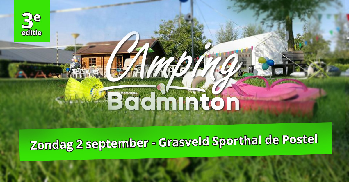 Inschrijving Camping Badminton Toernooi geopend!