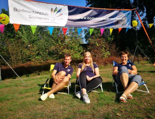 Zes winnaars op het Camping Badminton Toernooi
