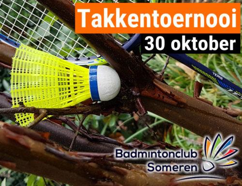30 oktober het Takkentoernooi!