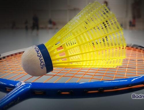 Voorlopig geen badminton… :-(
