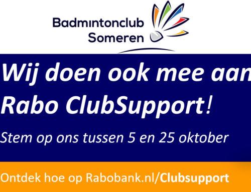"""Rabobank """"ClubSupport"""" stem jij ook op ons?"""