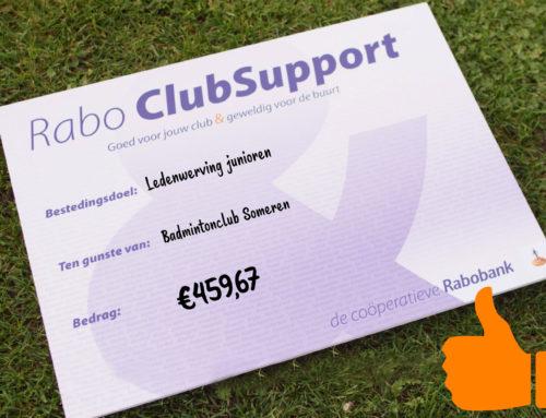 Rabo ClubSupport: 459,67 euro