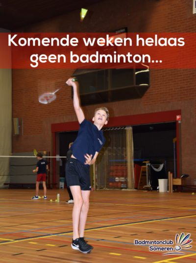Badminton corona update someren asten