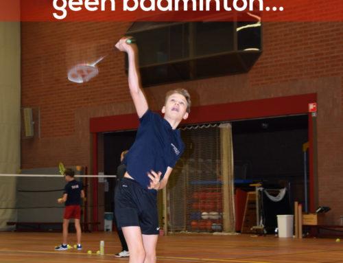 Corona update: Geen badminton komende weken