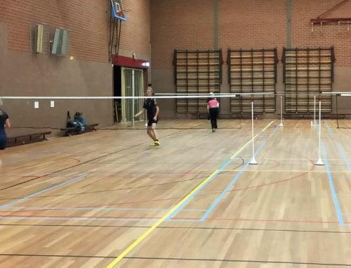 Alleen enkelspel voor de volwassenen bij Badmintonclub Someren