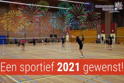 gelukkig nieuwjaar badmintonclub someren badminton 2021