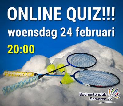 badmintonclub someren online quiz badminton 2021 corona pubquiz
