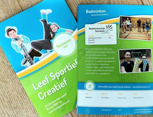 Leef Someren: badminton voor de jeugd