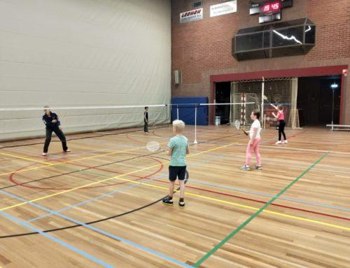 Weer lekker badmintonnen!
