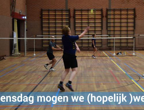 Woensdag weer badmintonnen (reserveren verplicht)