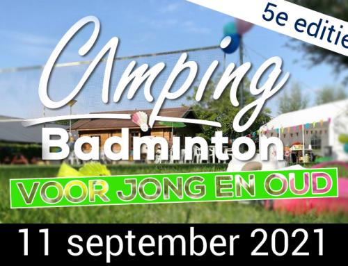 5e editie Camping Badminton Toernooi