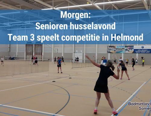 Husselavond & 1e wedstrijd team 3