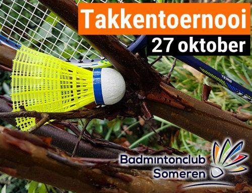 Takkentoernooi 27 oktober